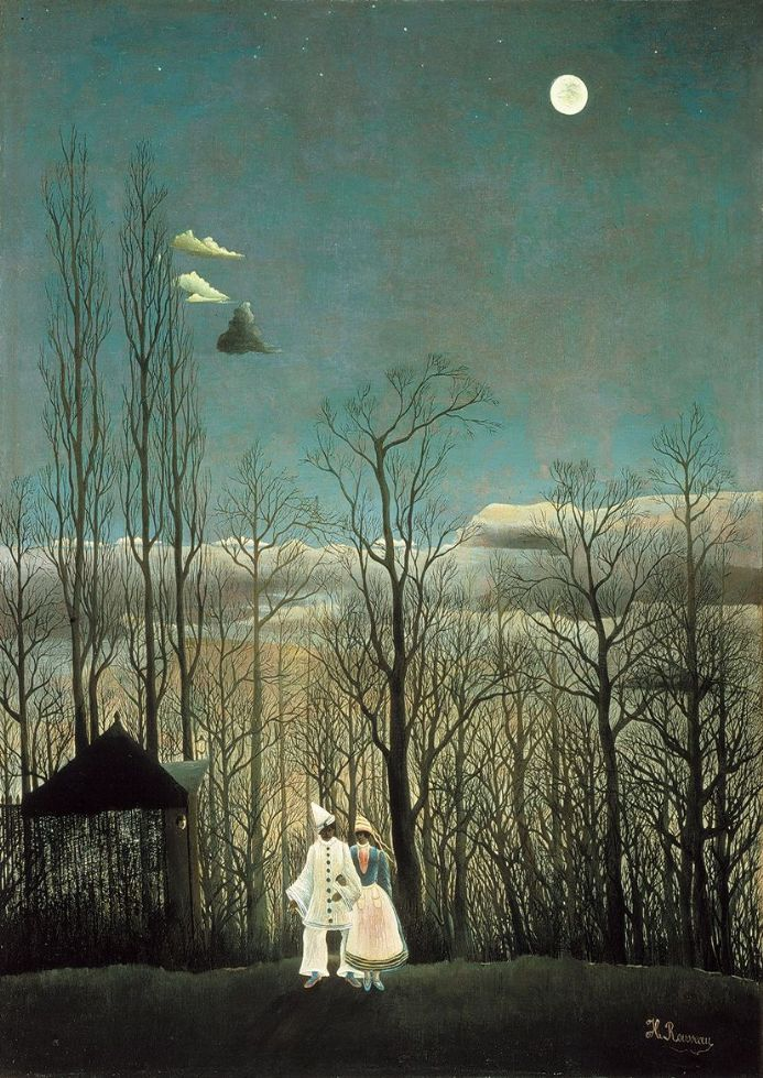 Rousseau, Henri: A Carnival Evening. Fine Art Print/Poster. Sizes: A4/A3/A2/A1 (001233)